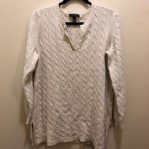 Lauren Ralph Lauren Cable Knit Sweater 1X